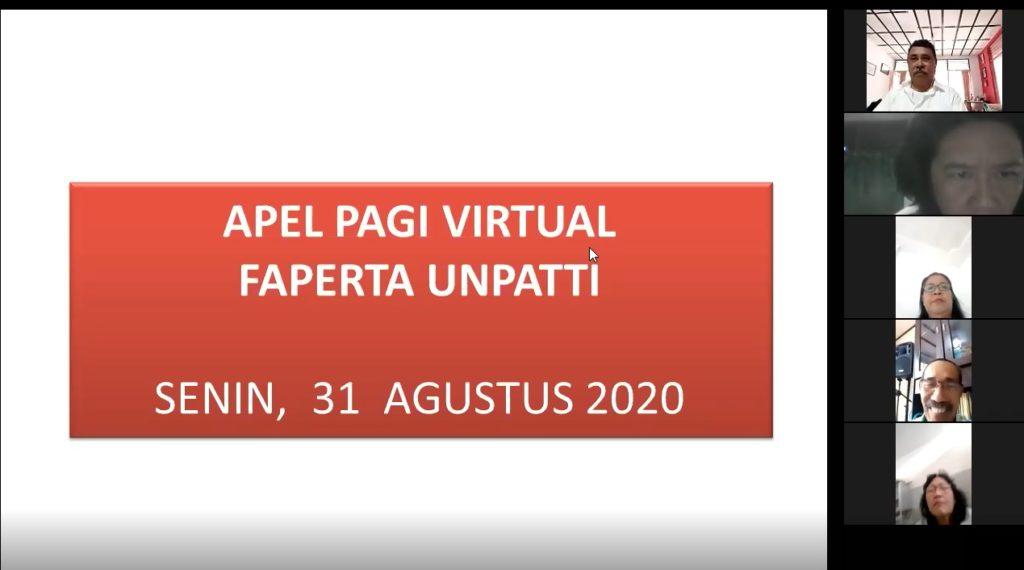 Fakultas Pertanian laksanakan Apel Kerja Virtual